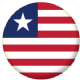 Liberia Country Flag 25mm Flat Back